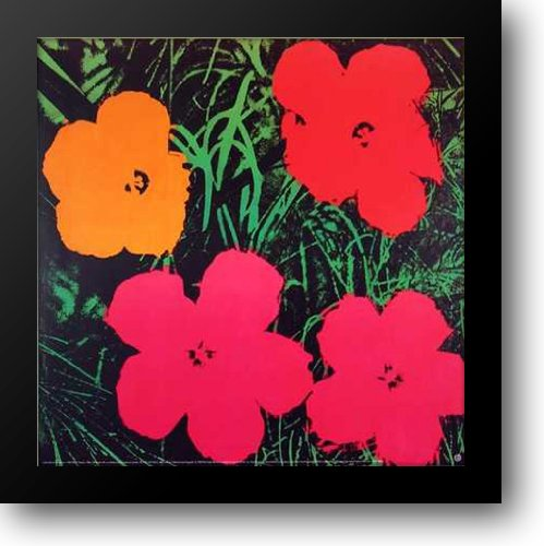 Flowers, 1964 30x30 Framed Art Print by Warhol, Andy by ArtDirect