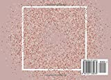 Guest Book: Rose Gold Glitter Cover 120 Blank Lined