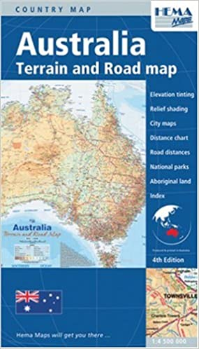 Map Of Australia Meme.Australia Terrain Road Map Australia Maps Hema 9781865000275