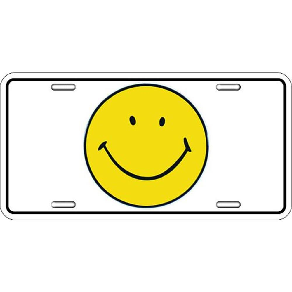 Signs 4 Fun Slpse Smiley Face License Plate