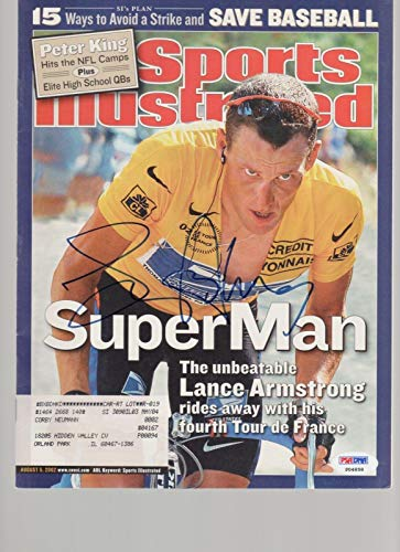 (Lance Armstrong Signed AUTOGRAPH Complete SI Sports Illustrated Magazine - PSA/DNA Certified - Autographed Sports Magazines)