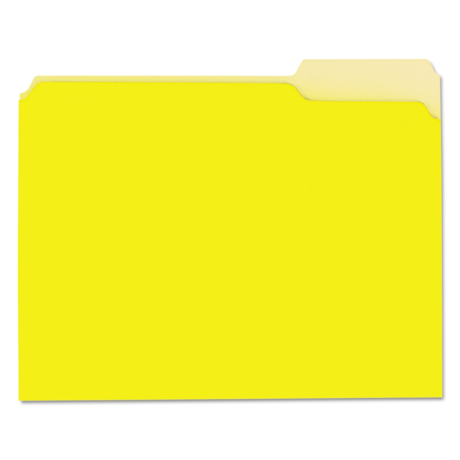 Yellow Letter 1//3 Cut Top Tab Universal 12304 Recycled Interior File Folders Box of 100