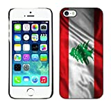 FJCases Lebanon Lebanese Waving Flag Slim  and  Thin Hard Case Cover for Apple iPhone 5 / 5S / SE