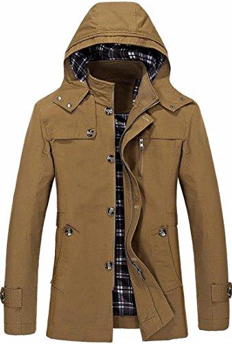 today-UK Men's Stylish Baseball Zip Up Windbreaker Jacket Hooded Trench Coat 1