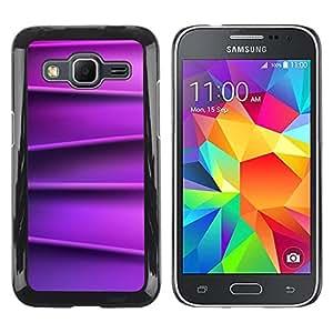 Be Good Phone Accessory // Dura Cáscara cubierta Protectora Caso Carcasa Funda de Protección para Samsung Galaxy Core Prime SM-G360 // Lines Silk Smooth Pattern