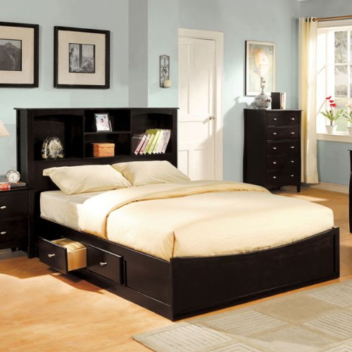 247SHOPATHOME IDF-7053F Platform-beds Full Espresso