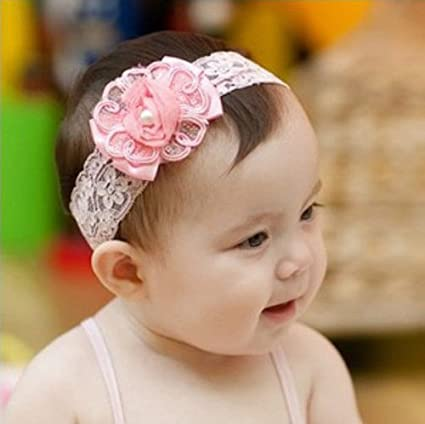 Clothing, Shoes & Accessories Cute Girl Baby Toddler Infant Flower Headband Hair Bow Band Accessories White Latest Technology