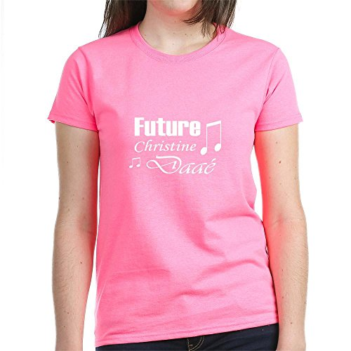 CafePress Future Christine Daae T-Shirt - Womens Cotton (Leroux Rock)