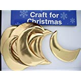 Christmas Card Making - Padded Moon Shape Gold (10 pieces) by Christmas Craft