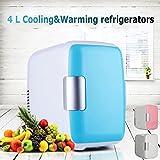MD Group Car Portable Refrigerator Mini 4L Light Blue Fridge Freezer Cooler Warmer