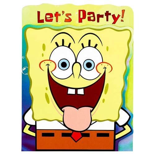 Designware Spongebob Classic Invitation Card 8 Pieces