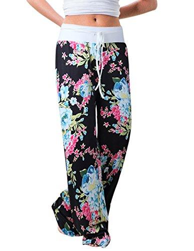 Buauty Plus Size Palazzo Womens Pj Wide Leg Sleep Casual Sweatpants Pants