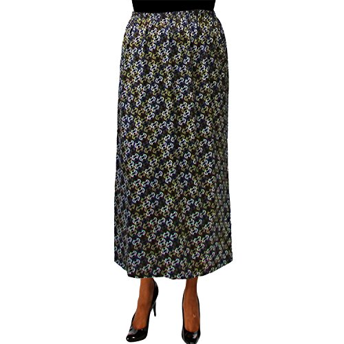A Personal Touch Women's Plus Size Status Elastic Wasit Maxi Skirt - 5X