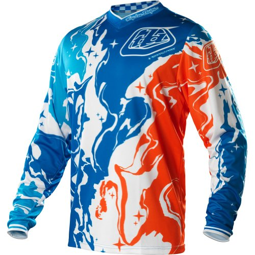 Troy Lee Designs GP Galaxy Youth Boys MotoX/Dirt Bike Motorcycle Jersey - Blue/Orange / X-Small