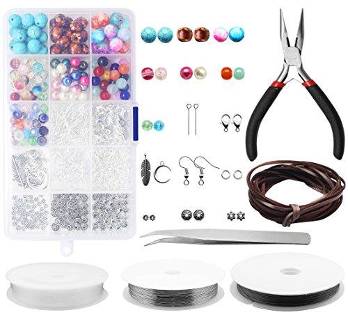 Jewelry Making Kit ,Yotako Jewelry Making Supplies,Jewelry Making Beads for Daily Hardcarf s and Jewelry (Rectangular Spacer Beads)