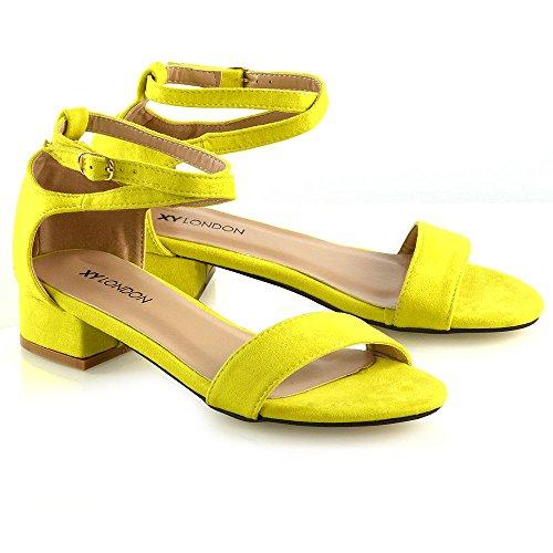 Nro Hyvät 8 Sandalit Nilkkalenkki Alhainen Naisten Essex 3 Kalkki Strappy Glam Kengät Avokärkinen PwxqXSzB