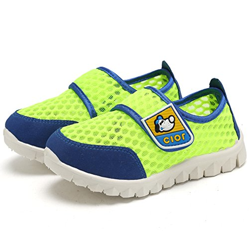 CIOR Kid's Mesh Lightweight Sneakers Baby Breathable Slip-On For Boy and Girl's Running Beach Shoes(Toddler/Little Kid) 39