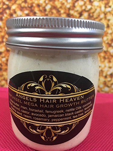 6 OZ RAPUNZEL MEGA HAIR GROWTH BUTTER SHEA MSM HORSETAIL NETTLE CASTOR ROSEHIP SEED NEEM FENUGREEK by Angel Hair Haven