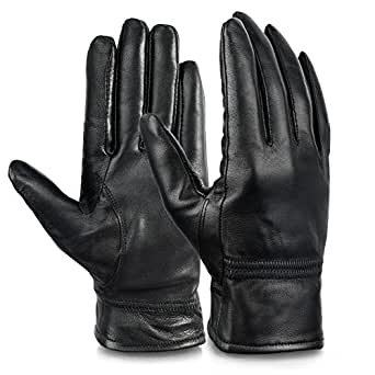 Vbiger Womens Leather Gloves Winter Gloves Cold Weather