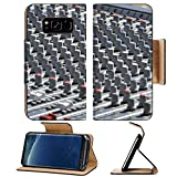 Liili Premium Samsung Galaxy S8 Flip Pu Leather Wallet Case Sound mixer console plenty of buttons Electronic technology for sound music Photo 9985272 Simple Snap Carrying