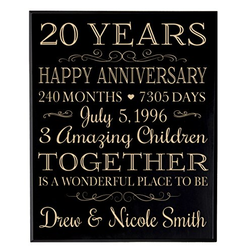 12 Months Of Dates Wedding Gift: Personalized 20th Wedding Anniversary Gift