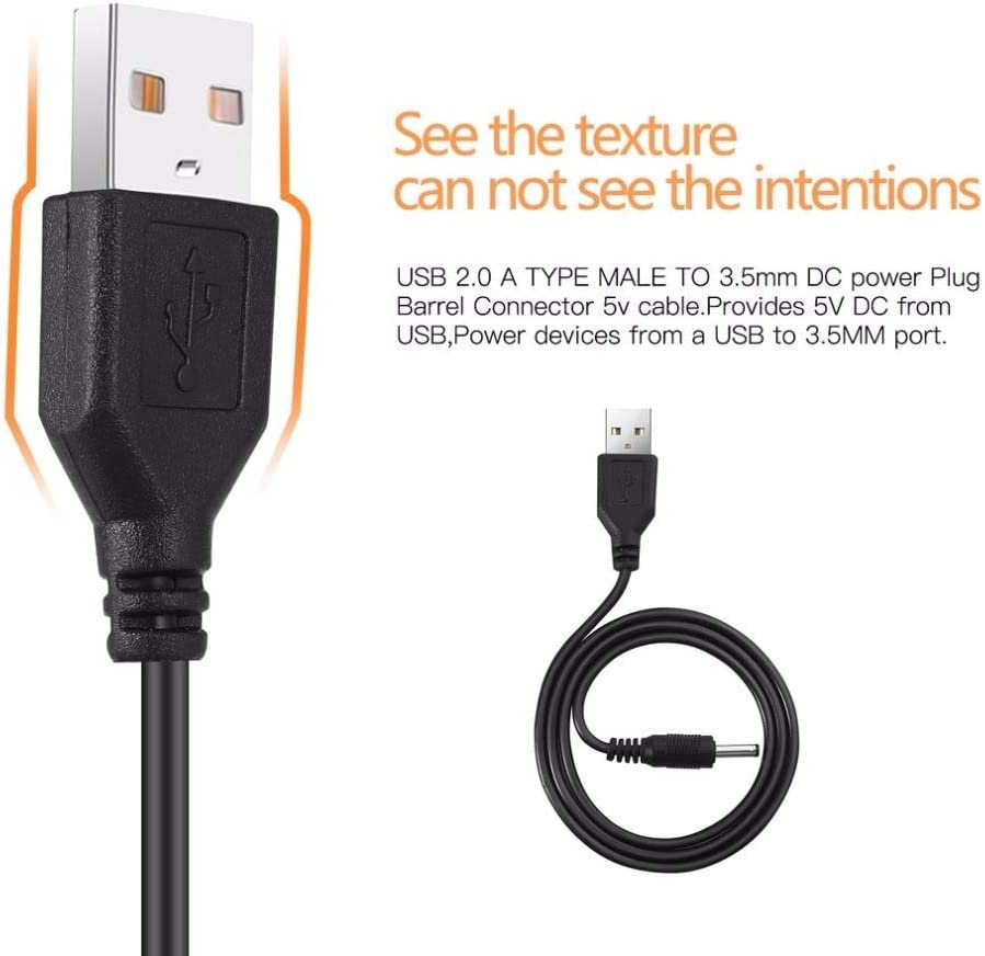 Computer Cables USB 2.0 A Type Male to 3.5mm DC Power Plug Barrel Connector 5V Cable Yoton US, Cable Length: 67cm