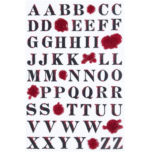 Martha Stewart Crafts Halloween Bloody Alphabet Stickers ()