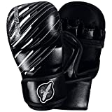 Hayabusa Ikusa Charged 7 oz Hybrid Gloves, Black/Grey, Small