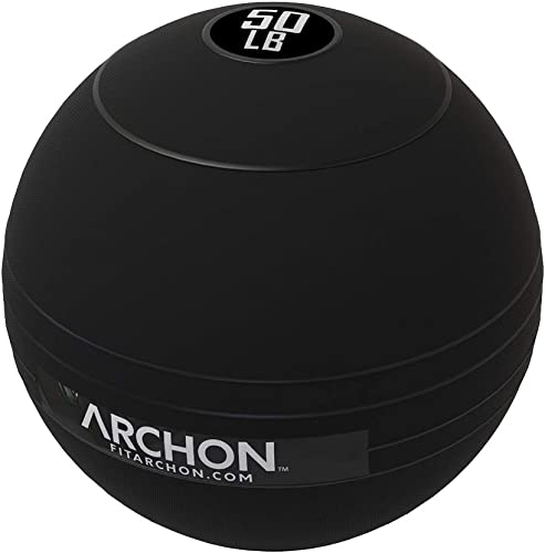 ARCHON Training Slam Balls Crossfit Workout No Bounce Exercise Ball Gym Equipment Accessories Plyometric Exercise Cardio Jam Ball Squats Medicine Ball