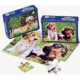 Dozen Dog Puppy Theme Mini Jigsaw Puzzles by US Toy