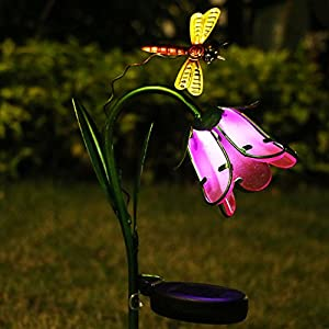 Garden Solar Lights Outdoor,Homeimpro Flower Solar Powered Stake Lights,Waterproof LED Lights for Garden,Lawn,Patio