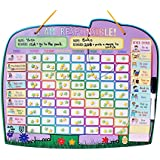 Premium Children Magnetic Reward Responsibility and Good Behavior Chore Chart for 2 kids or up to 4 kids (option)- NEW Yoyoboko Ele-fun Star Chart