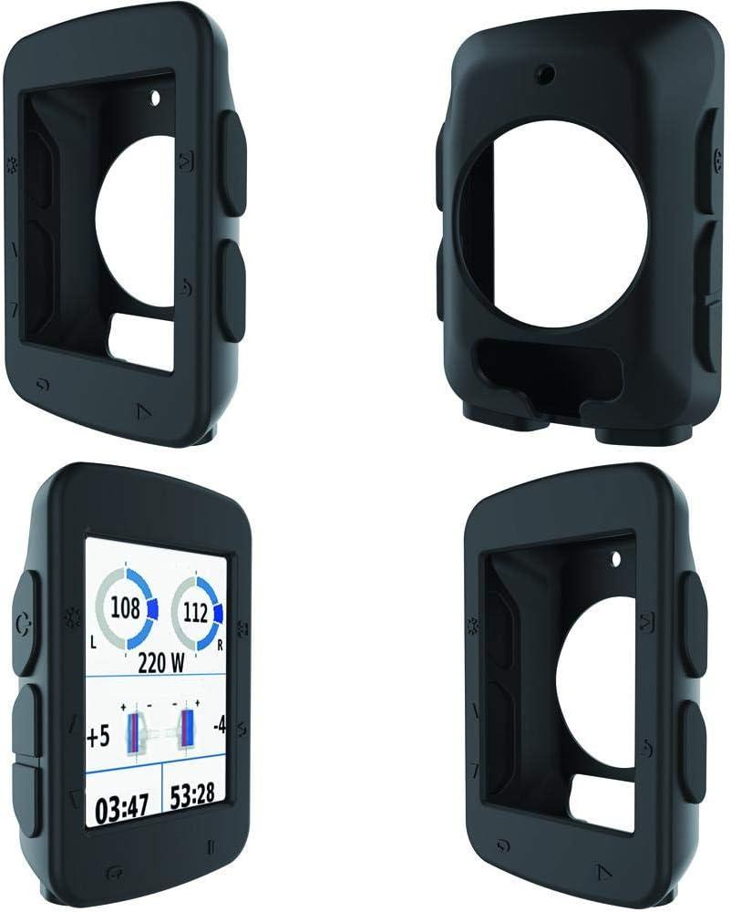 FANMURAN Fanmruan Protector Funda Cubierta de Goma de la Pantalla de la Cubierta de la Caja del silic/ón Silicona para la computadora de la Bicicleta Bici Garmin Edge 520 GPS