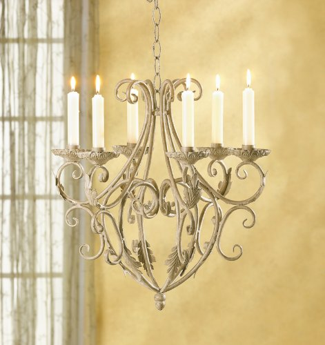Gifts & Decor Wrought Iron Royalty's Candleholder Chandelier by Gifts & Decor