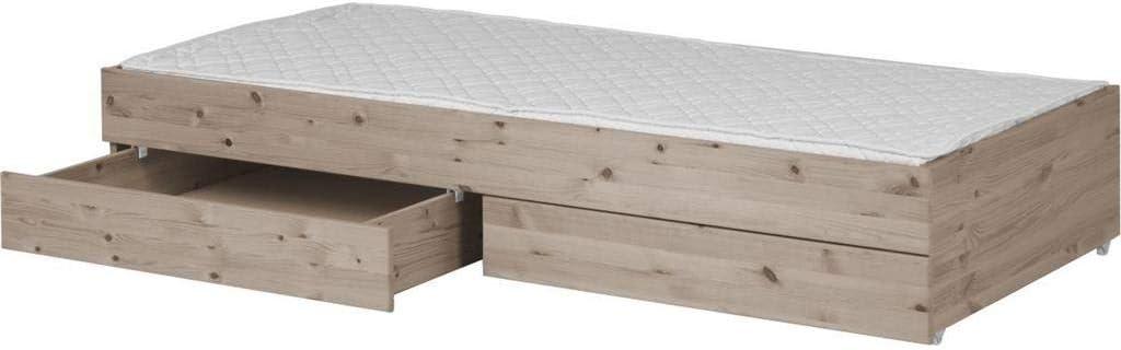 Flexa Classic extensible cama con 2 cajones y somier 90 x 190 ...
