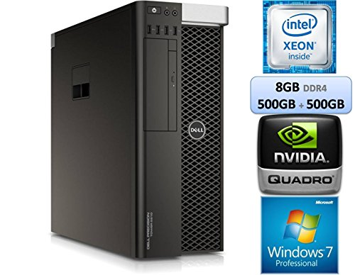 Dell Precision Tower T5810 Workstation Intel Xeon E5-1603 v3 Memory 8GB DDR4 500GB + 500GB HDD Windows 7 Pro