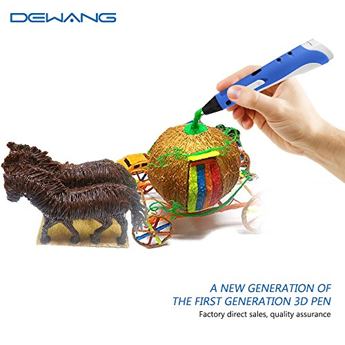 3D Pen RENY 3D Printer Pen Arts Pen Making Doodle Arts & Crafts - Unleash Children's Creativity, Develop Spatial Thinking ( Blue ) With Free Multi-Color 20 Meters PLA Filament For Kids Hobby Gift by DeWang (Image #3)