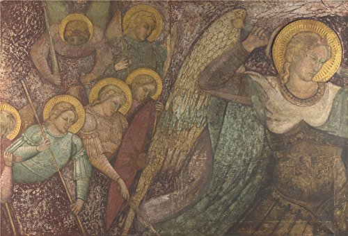 Oil Painting 'Spinello Aretino Saint Michael And Other Angels', 8 x 12 inch / 20 x 30 cm , on High Definition HD canvas prints is for Gifts And Garage, Gym And Kids Room Decoration, sale
