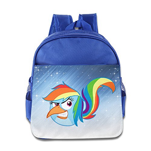 Price comparison product image ELF STORY - Horse Pony Bird Little Kid Baby Boys Girls Toddler Backpack Bag RoyalBlue
