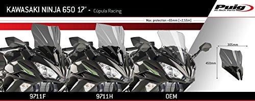 Cupula Racing Kawasaki Ninja 650 17-19 ahumado Puig 9711h ...