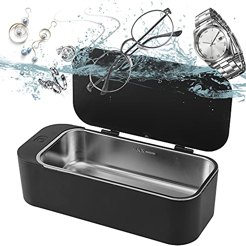 Ultrasonic Jewelry Cleaner,Ultrasonic Cleaner,42kHz Household Professional Cleaning Silver/Jewelry/Eyeglasses/Rings/Necklaces/Coins/Razors/Brushes,with 3 Minutes,by IGOKOTI