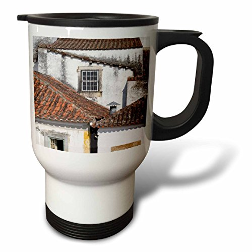 Terra Cotta Steel Roof (3dRose Danita Delimont - Architecture - Portugal, Obidos. terra cotta tiled roof tops typical of the town. - 14oz Stainless Steel Travel Mug (tm_277801_1))