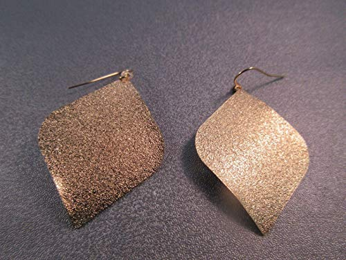 Stardust Brass Gold Tone Hook Earring #ID-3935
