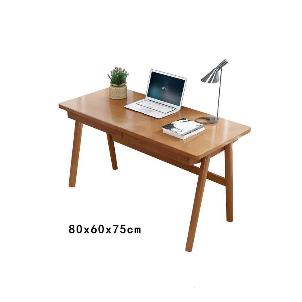 XUERUI テーブルチェア 机 シンプル 家庭 無垢材 デスクトップコンピューター 机 学生 ライティングデスク オフィス 机 寝室 机 モダン コンピューター 机 (色 : C, サイズ さいず : 80*60*75cm) 80*60*75cm C B07MY4HB3T