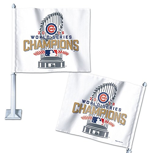 Chicago Cubs WinCraft 2016 World Series Champions On Field Locker Room Celebration Car Flag ()