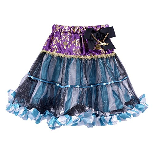 MAGIC TOWN Girls' Pettiskirts Tutu Dress Skirt (Blue,6-12) (Pretty Girl Outfits)