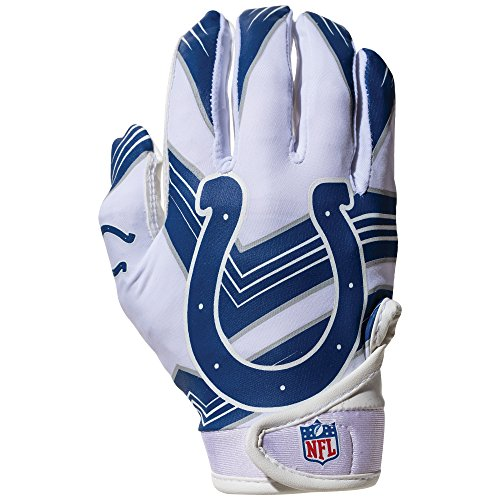 NFL Indianapolis Colts Youth Receiver Gloves,White,Medium