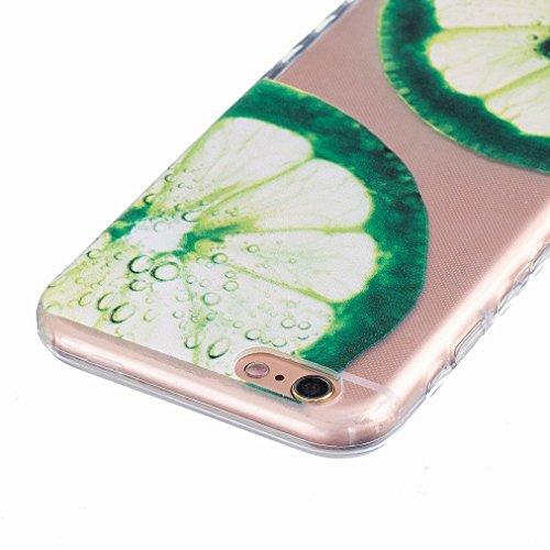 Ougger Apple iPhone 6s 4.7 Custodia Case, Antigraffio Trasparente Cristallo Durevole Slim Morbido TPU Gomma Silicone Flessibile Protettivo Skin Shell Bumper Rear (Modello 9)