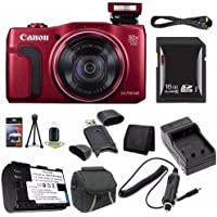 Canon PowerShot SX710 HS Digital Camera (Red) - International Version (No Warranty) + NB-6L Battery + External Charger + 16GB SDHC Card + Case + Mini HDMI Cable + Card Reader Saver Bundle Noticeable Review Image