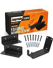 Upgrade4cars Fietswandhouder garage & woning | wandhaak wielophanging zwart | fietshouder wiel muurhouder | fietshouder muur tot 30 kg